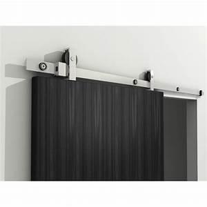 Rail Suspension Porte Coulissante : coulissant de porte porte coulissante bois et verre patcha ~ Premium-room.com Idées de Décoration