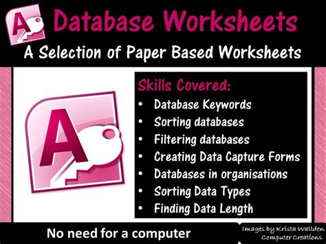 databases worksheets microsoft access by balsamgr8 teaching resources tes