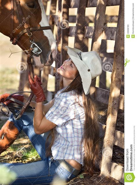 cowgirl  horse stock  image