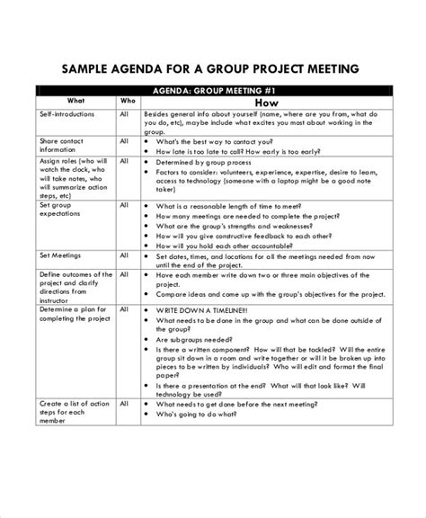 project agenda template   word  documents