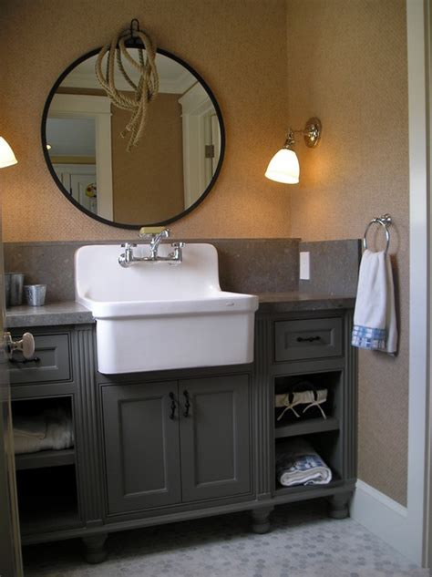 apron front bathroom sink vanity farmhouse sinks in the bathroom abode