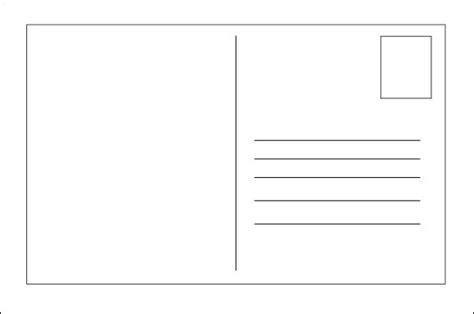 blank postcard template templates  activities