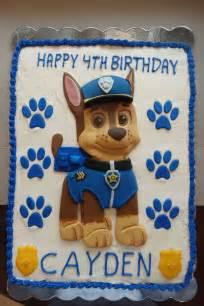 Chase PAW Patrol Birthday Cake