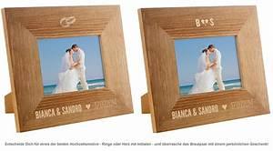 Bilderrahmen Gravur Hochzeit : personalisierter bilderrahmen zur hochzeit mit namen datum ~ Michelbontemps.com Haus und Dekorationen