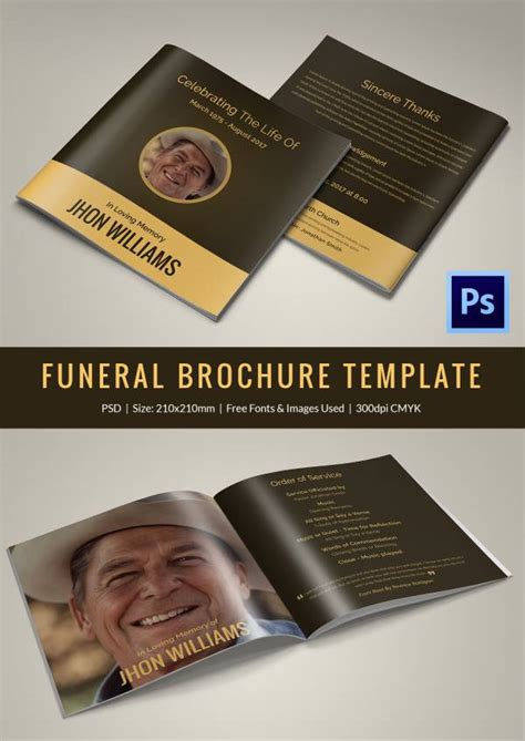funeral program templates  word  psd