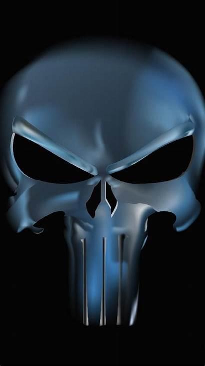 Punisher Skull Chrome Marvel Zedge Skulls Justiceiro