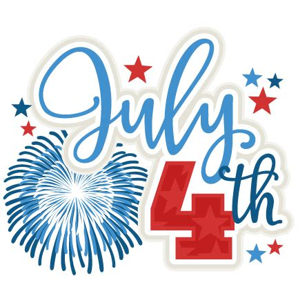July 4 Clip July 4th Clipart Clipground