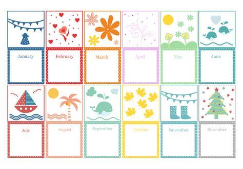 10 Best Printable Months Of Year Cards - printablee.com