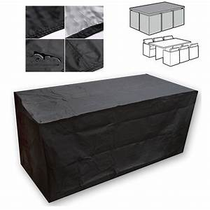 Black waterproof patio furniture cover for outdoor garden for Waterproof outdoor furniture covers australia