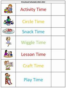 preschool schedule template schedule template free With preschool daily schedule template
