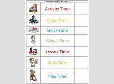 Preschool Schedule Template schedule template free