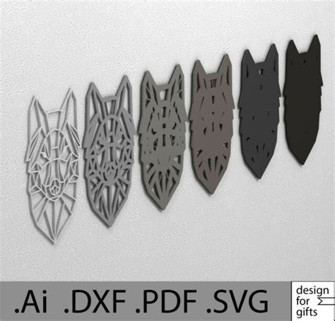 The actual layered mandala from restoration hardware has way more layers to it. DXF SVG Ai EPS Layered Wolf Wall Decor Mandala File For ...