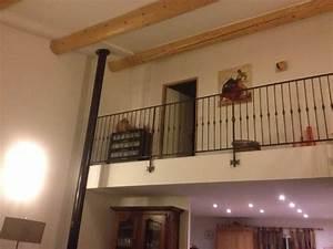 Rambarde Fer Forgé : rambarde d 39 escalier en fer forge avec marches en bois ~ Dallasstarsshop.com Idées de Décoration