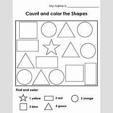 Color The Shape Worksheets  Activity Shelter
