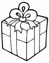 Gift Box Coloring Christmas Pages Present Printable Gifts Getcoloringpages sketch template