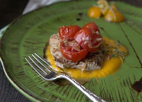 cucinare palamita palamita con pachino e crema di carote ricetta