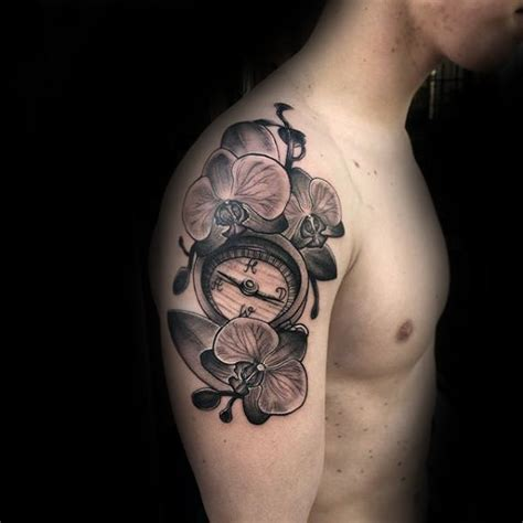 70 Orchid Tattoos For Men - Timeless Flower Design Ideas