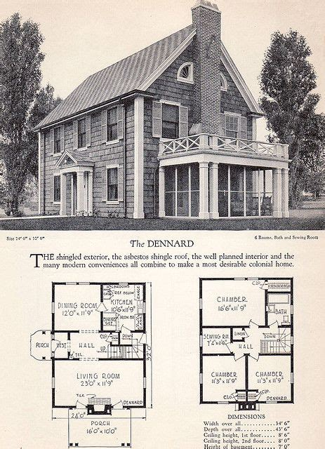 home builders catalog  dennard vintage house plans house plans floor plans