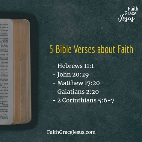 And the prayer of faith will save. 5 Bible Verses about Faith