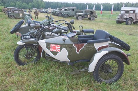 Japanese Old Military Rikuo Motorcycle Type 97 (a Copy Of
