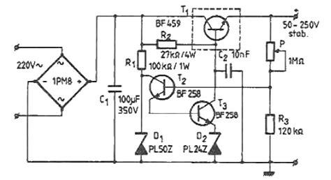 volts high voltage adjustable regulator circuit