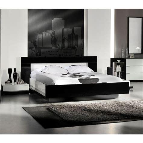 lit 2 personnes laque noir