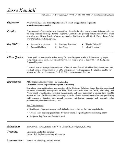 Sle Customer Service Representative Objective Resume by Customer Service Resume Exle Recentresumes 28 Images