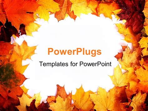 Autumn Leaves Fall Backgrounds Powerpoint by Powerpoint Template Autumn Border With Fall Leaves In