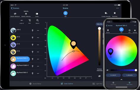 lichtsteuerung per smartphone arri stellar intelligente visuelle lichtsteuerung per app ibc 2018
