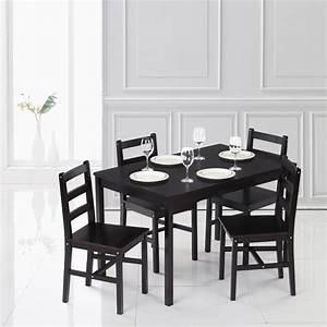 Esstisch Und Stühle Modern : nur ikayaa modern 5pcs kiefernholz k che esstisch und 4 st hle set ~ Bigdaddyawards.com Haus und Dekorationen