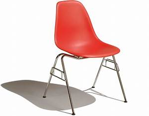Eames Plastic Side Chair : eames molded plastic side chair with stacking base ~ Frokenaadalensverden.com Haus und Dekorationen