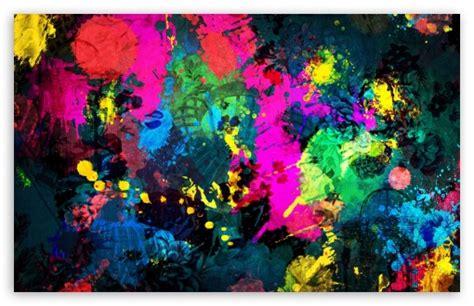 Colorful Paint Splatter 4k Hd Desktop Wallpaper For 4k