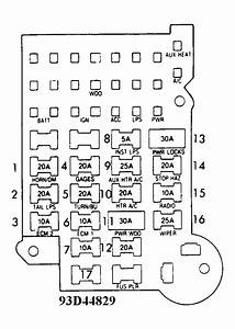 1992 Chevrolet Van Fuse Box  Diagram Of Fuse Panel For 1992 Chevy