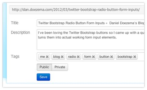 twitter bootstrap radio button form inputs daniel