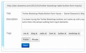 Twitter Bootstrap Radio Button Form Inputs  U2013 Daniel