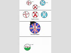 Making the UK flag Poor Wales Countryballs