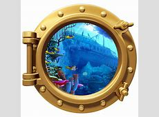 Wall Decals Porthole Wall Color Decal Pirate Ship Wreck