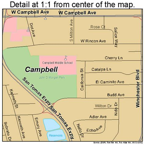 campbell california street map