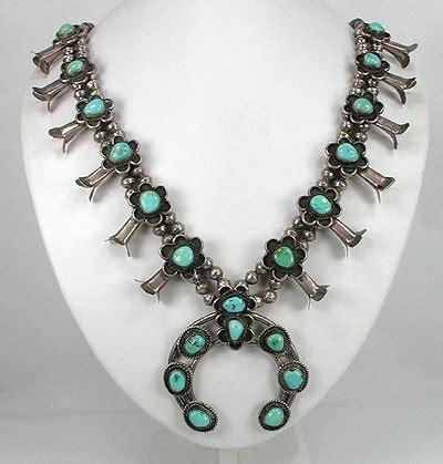 navajo squash blossom necklace    history