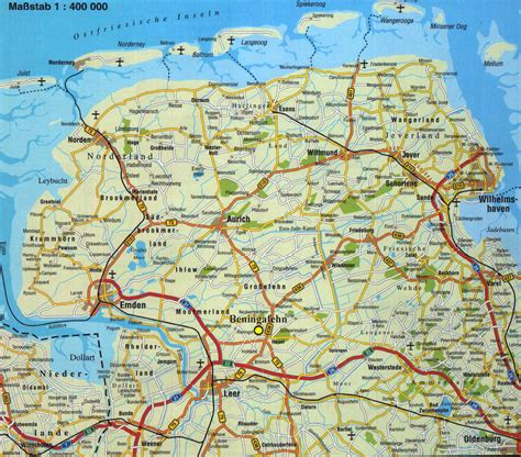 in wall beningafehn touristik ostfrieslandkarte