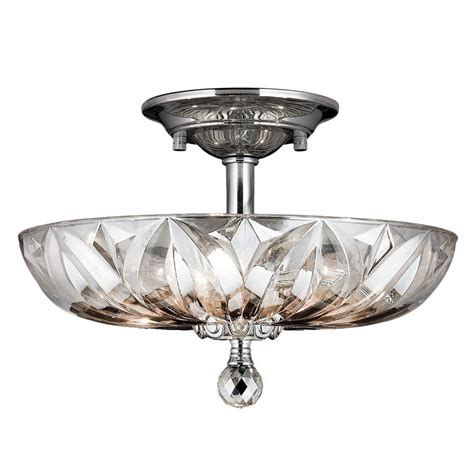 clearly modern semi flush ceiling light worldwide lighting mansfield collection 4 light chrome and