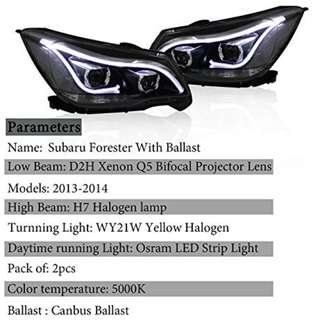 win power 2013 2014 subaru forester headlight assembly