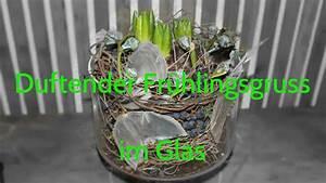 Blumendeko Im Glas : fr hlingsfloristik selber machen glas gef llt mit duftender hyazinthe youtube ~ Frokenaadalensverden.com Haus und Dekorationen