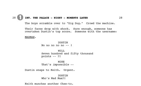 Duffer Brothers Share Script