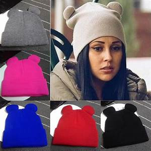 2017 Women's Winter Hats Warm Knitted Braid Hat With Ears ...