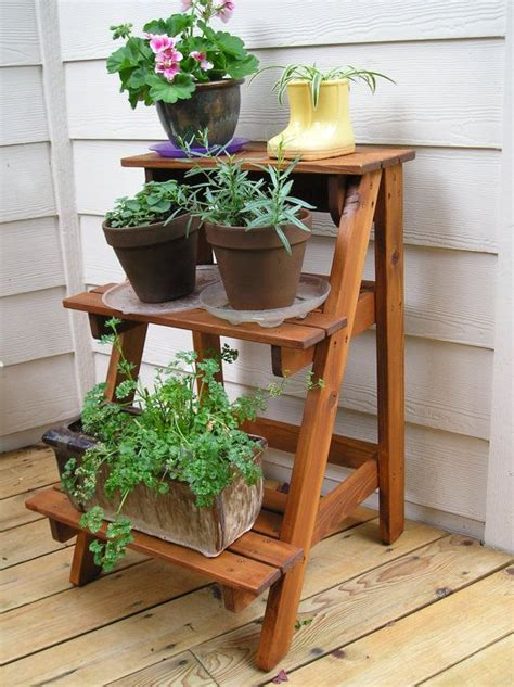 outdoor plant stands ideas  pinterest diy