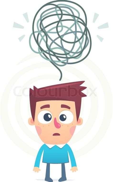 mixed    mind   person stock vector