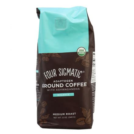 The mushroom coffees as well as the coffee latte, adaptogen ground coffee and adaptogen coffee contain organic, 100% arabica coffee, along with. Four Sigmatic Organic Adaptogen Ground Coffee with Ashwagandha Balance Medium Roast in Canada ...