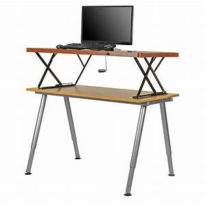 Manual Adjustable Height Table Top Sit    Stand Desk