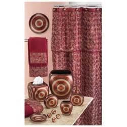 circa burgundy shower curtain rakuten com